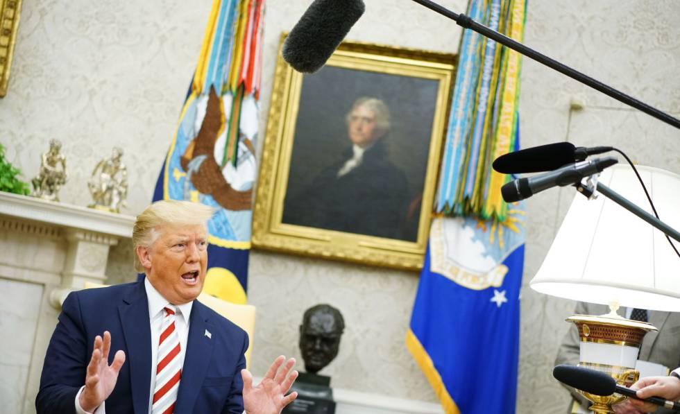 El presidente de EE UU, Donald Trump, en la Casa Blanca.