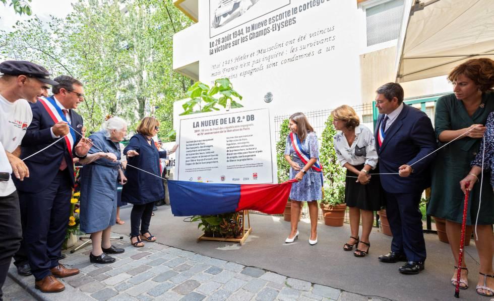 París rinde homenaje a los soldados españoles de La Nueve