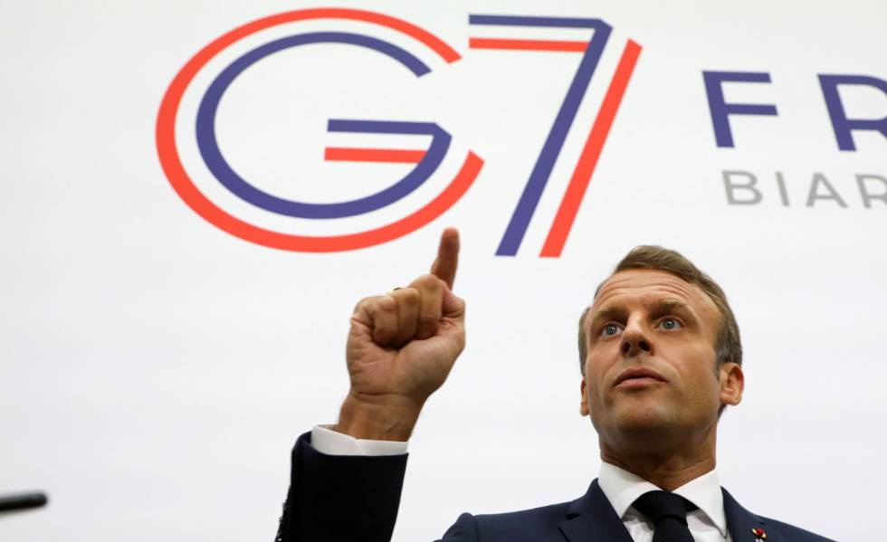 El presidente francés, Emmanuel Macron, en Biarritz