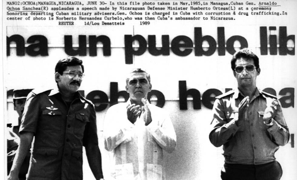 Ochoa, ante un tribunal militar en junio de 1989.