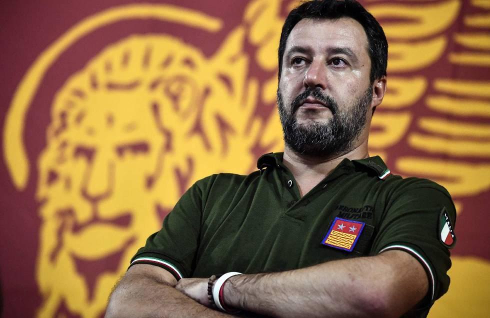 Matteo Salvini, leader della Loga, venerdì scorso a Padova.