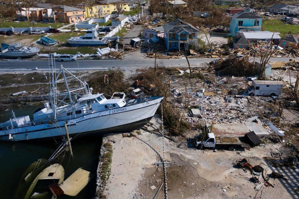 Los daños causados por Dorian en la ciudad de Marsh Harbor, en la isla de Gran Ábaco.