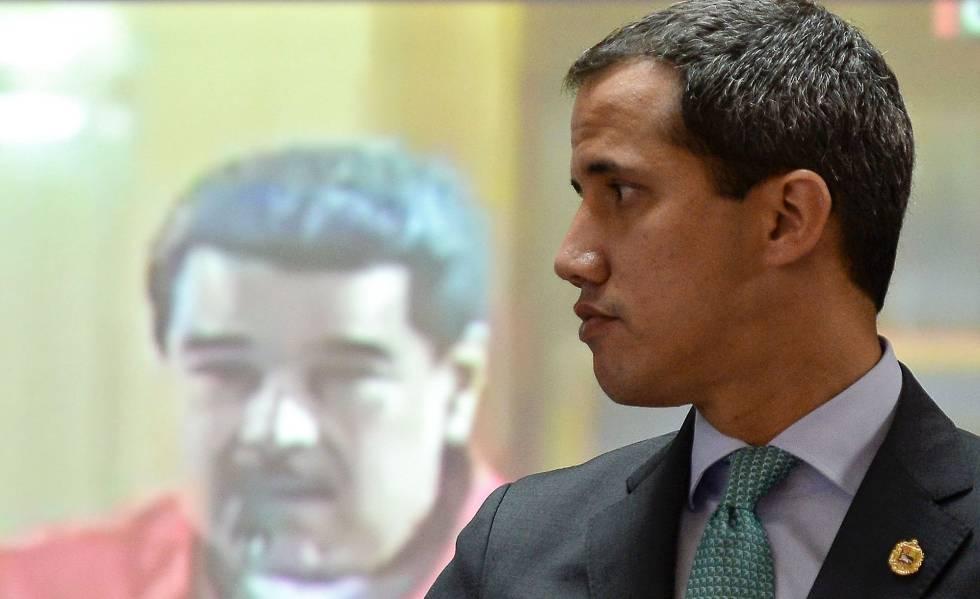 Juan Guaidó durante una sesión de la Asamblea Nacional de Venezuela, en Caracas.