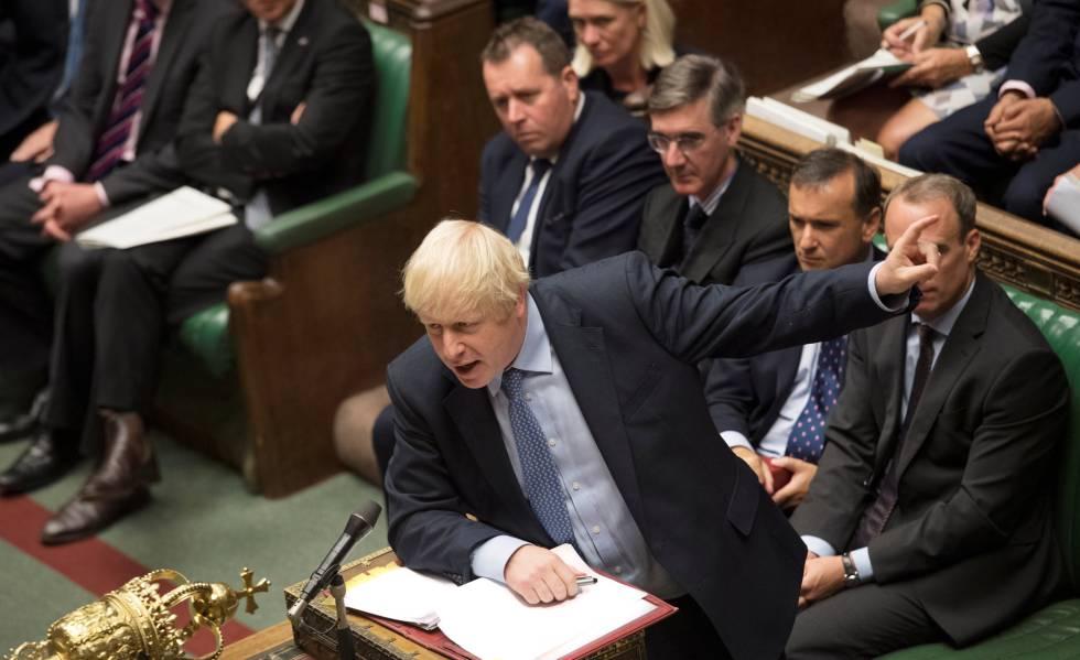 El primer ministro británico, Boris Johsnon, habla en el Parlamento la semana pasada.