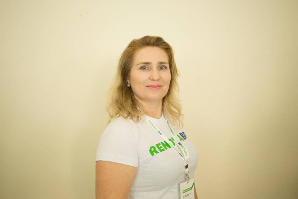 Karina Freitas, 41, una empresaria de Franca, quiere