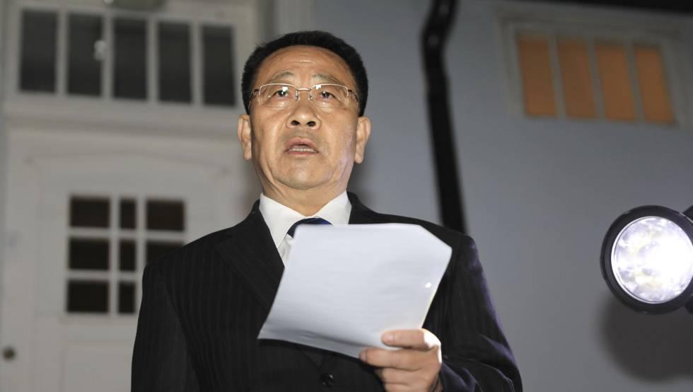 El jefe negociador norcoreano, Kim Myong-gil.