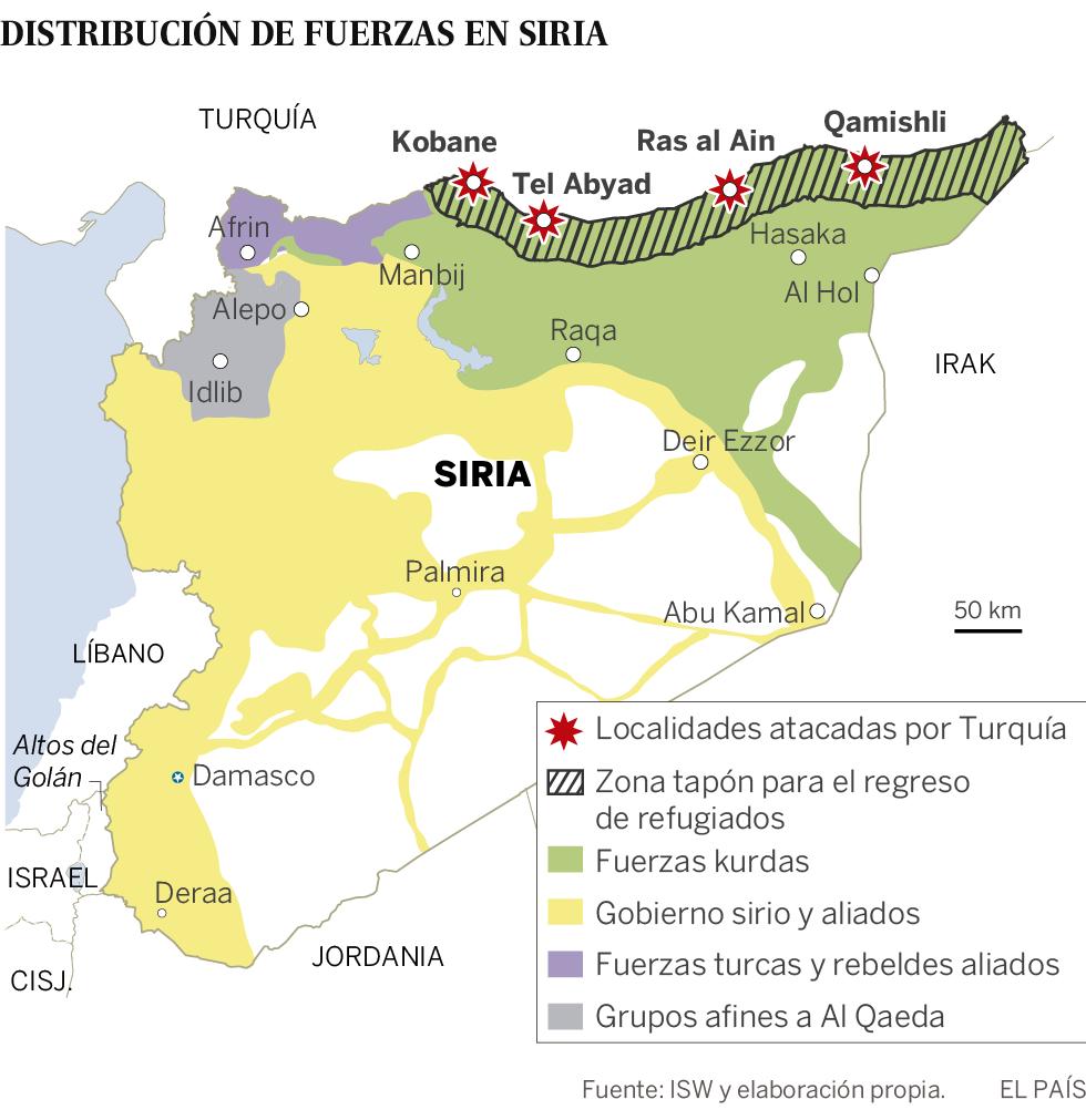 Turquía lanza una ofensiva contra las fuerzas kurdas en el norte de Siria
