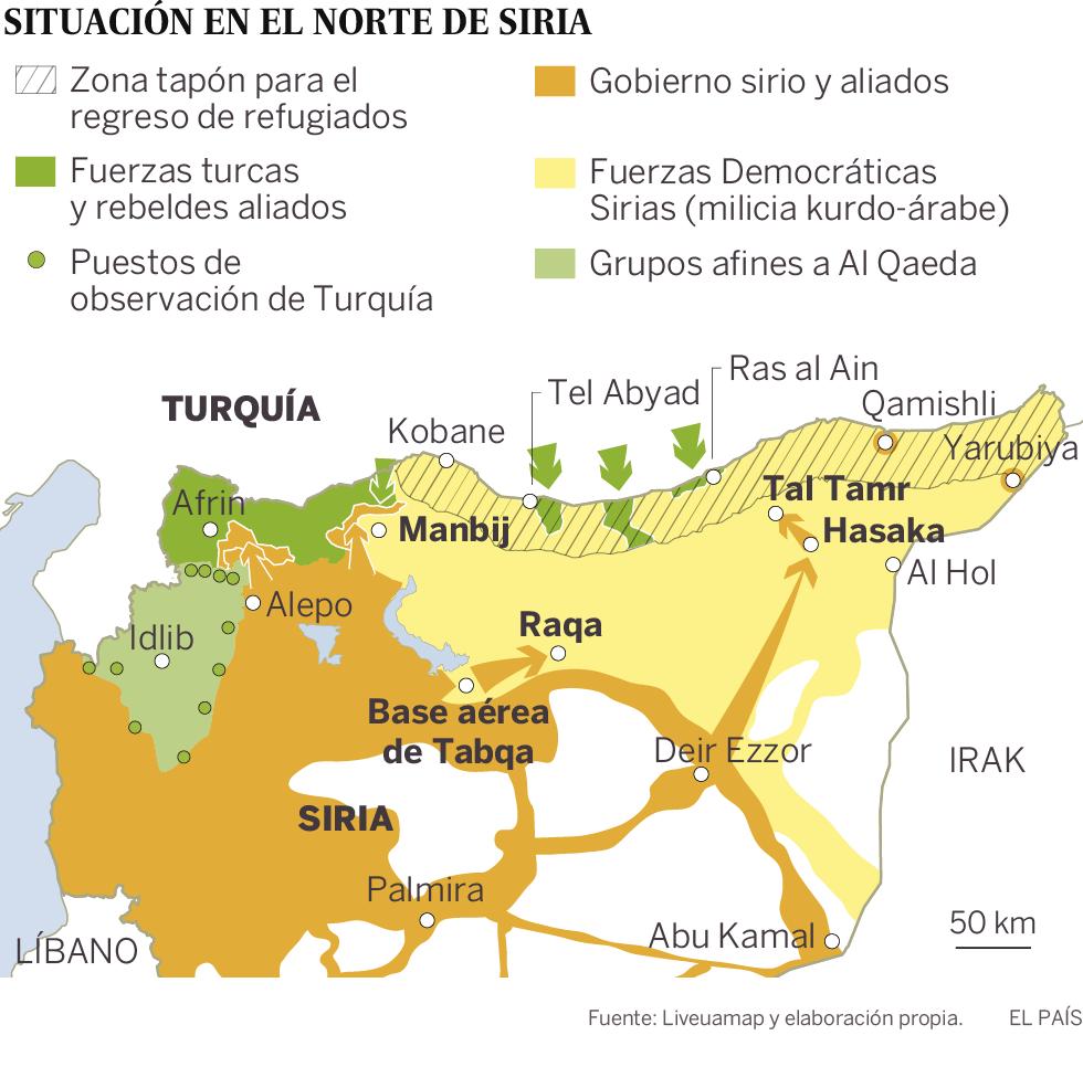 El pacto entre los kurdos y El Asad revoluciona el tablero de la guerra siria