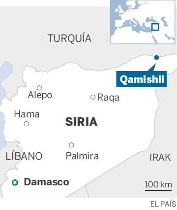 Una estampida bajo las bombas turcas en Siria