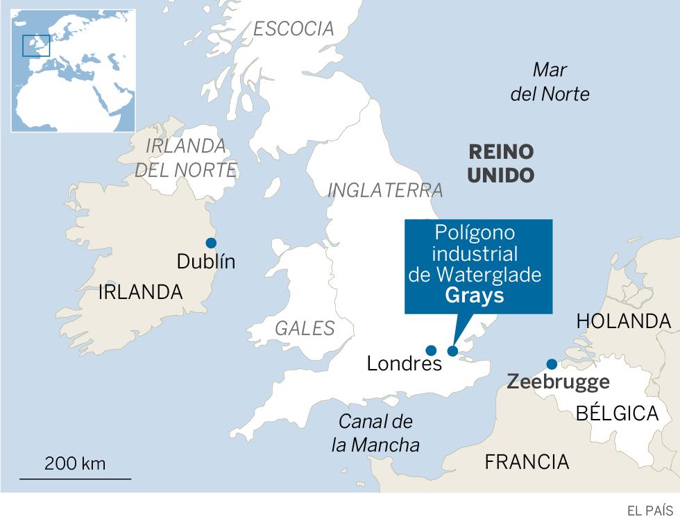 La policía británica halla 39 cadáveres en un camión en una zona industrial de Essex