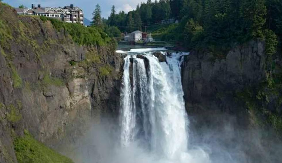 Catarata, hotel y spa adquiridos por la tribu Snoqualmie, en la región de Puget Sound, en el Estado de Washington (EE UU).