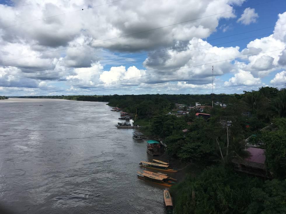 El río Acre sirve como frontera natural entre Bolivia, Perú y Brasil.