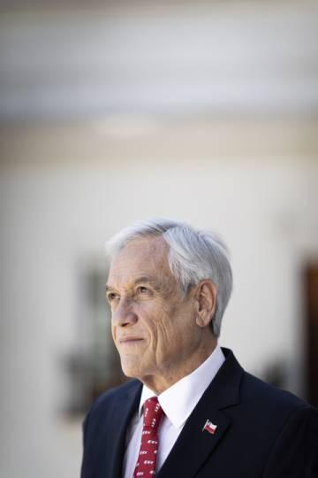 Piñera, el jueves pasado en La Moneda.