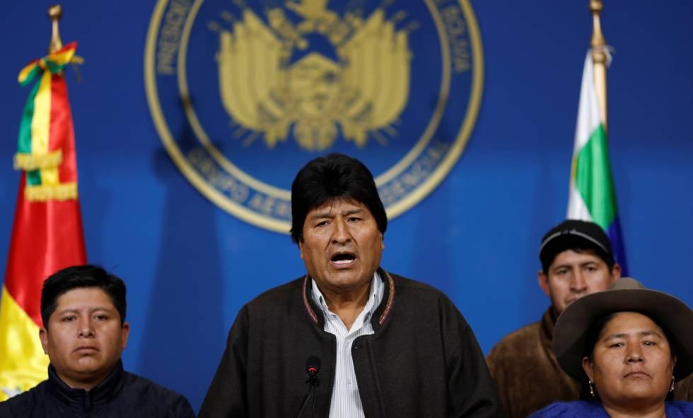 Evo Morales, durante su comparecencia este domingo en El Alto (Bolivia).