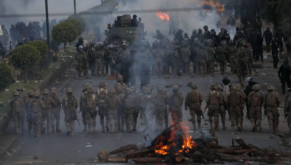 Las Fuerzas Armadas bolivianas, en Cochabamba.