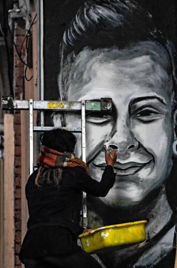 Mural en homenaje a Dilan Cruz, en Bogotá.