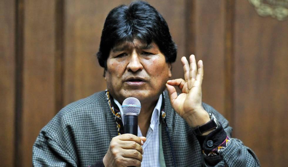 Evo Morales, expresidente boliviano, en Ciudad de México.