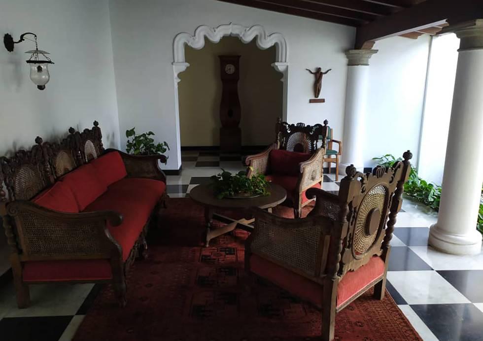 Uno de los salones de La Casona.