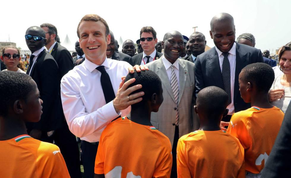 Emmanuel Macron, el 21 de diciembre en Abidjan (Costa de Marfil).