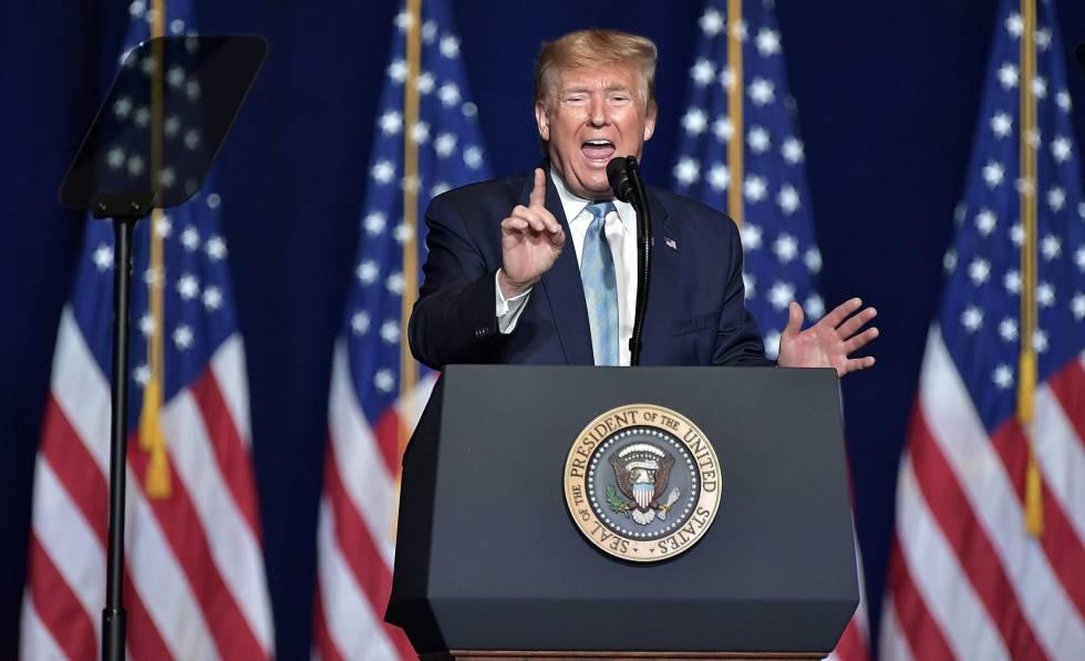 Trump, en una conferencia en Miami.
