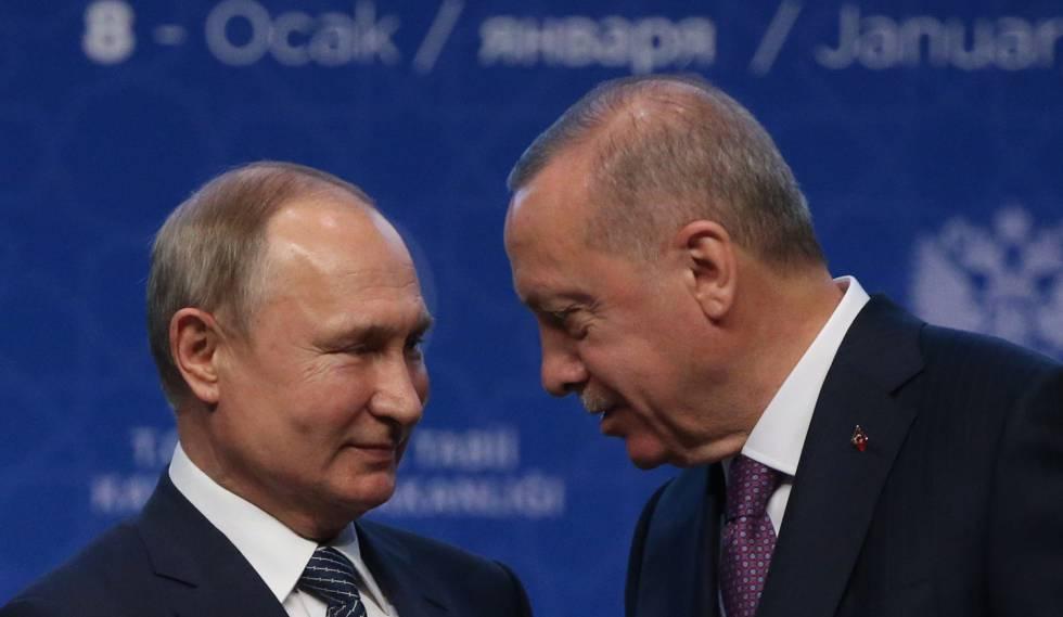 Vladímir Putin y Recep Tayyip Erdogan, el pasado día 8 en Estambul.