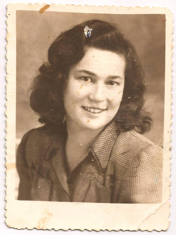 Imagen de Sheindi Miller-Ehrenwald en 1947.