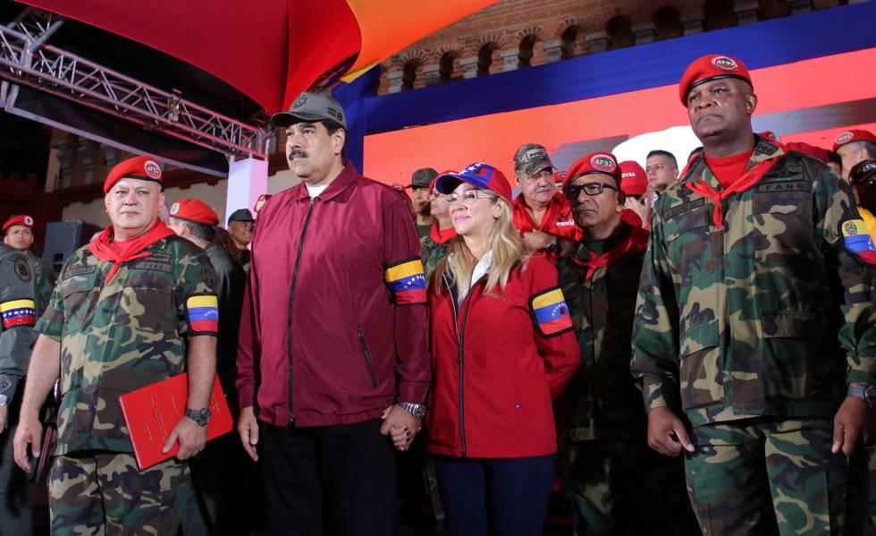 Nicolás Maduro durante la conmemoración a Hugo Chávez este martes.rn