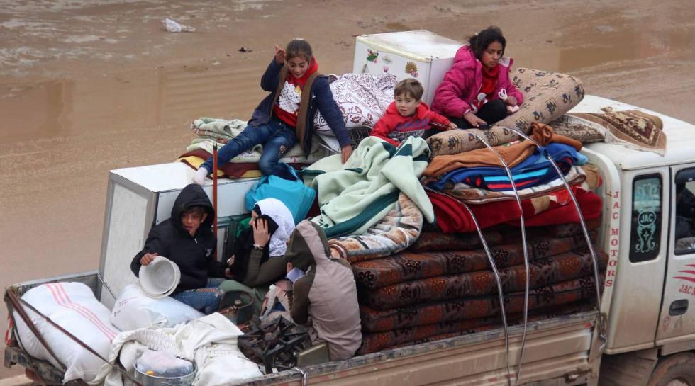 Huyendo de la guerra en Siria