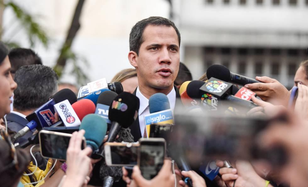 Guaidó este miércoles en Caracas.
