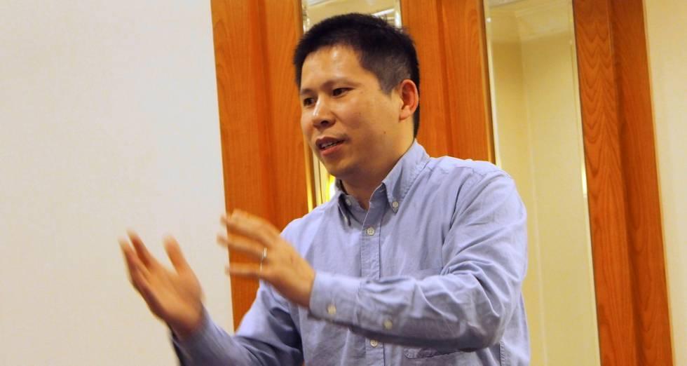 Xu Zhiyong, durante un encuentro en Pekín en 2013.