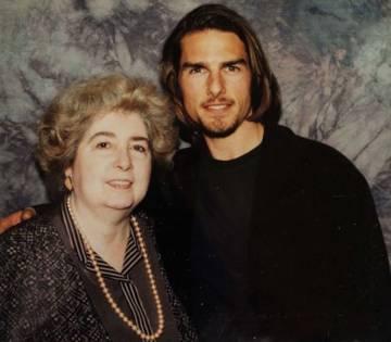 Maria Snoeys-Lagler con Tom Cruise.