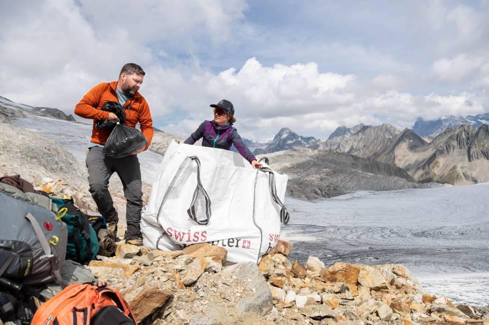 Cornelissen y un miembro de su equipo, el pasado septiembre durante la expedición.