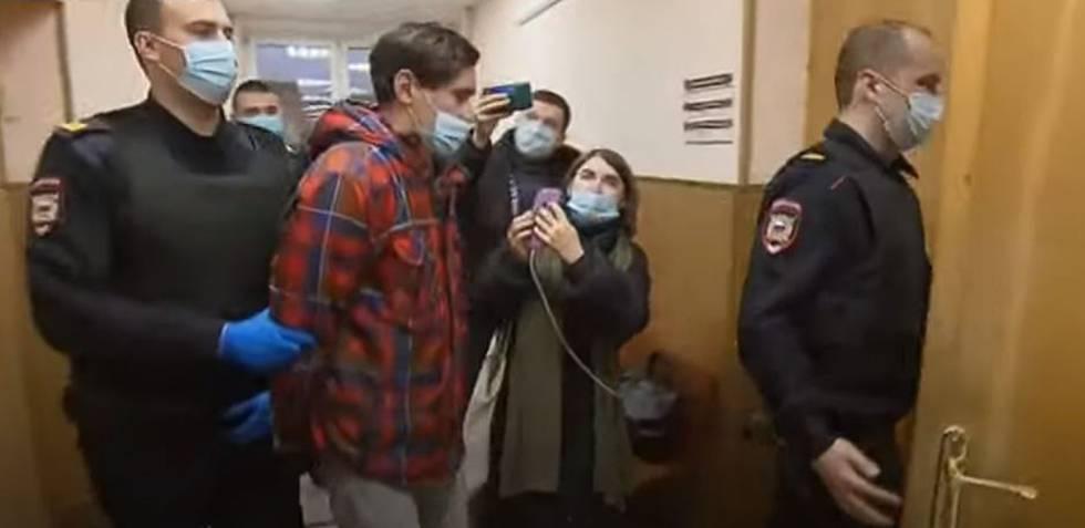 Stanislav Teshetnikov, tras ser detenido.