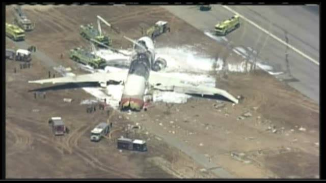 Un avión se estrella en el aeropuerto de San Francisco cuando aterrizaba