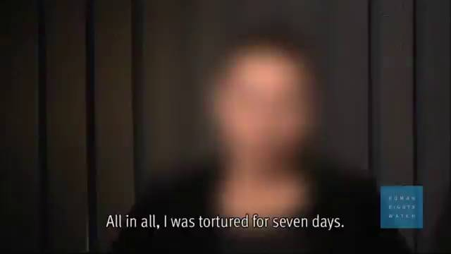 Uma mulher iraquiana entrevistada pela Human Rights Watch.