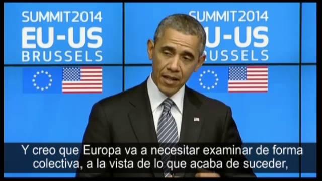 Barack Obama, na cúpula entre EUA e a UE, em Bruxelas.