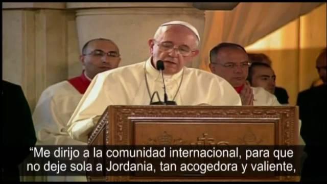 Primera missa do Papa em Tierra Santa.