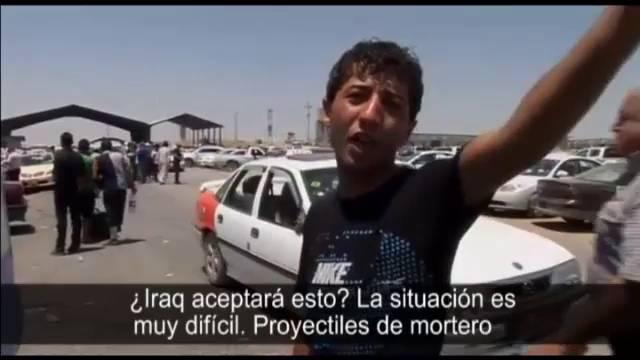 Os moradores de Mosul e Baiji fogem de suas casas.