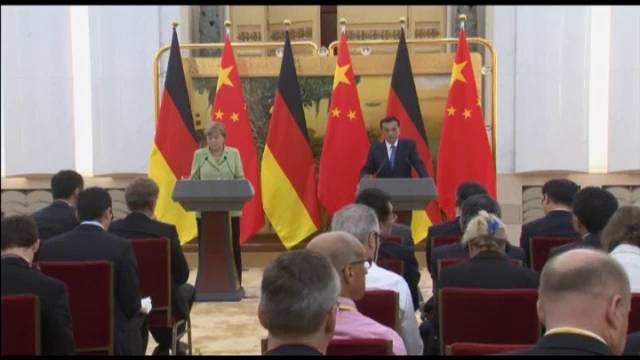 Declarações da chanceler alemã, Angela Merkel, sobre o agente duplo durante a sua visita oficial à China.