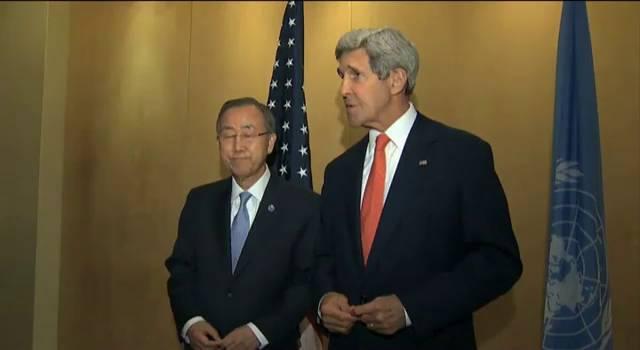 Ban Ki-moon e Kerry fazem pressão por trégua na Faixa de Gaza