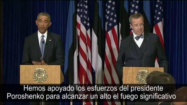Reação de Obama ao anúncio de cessar-fogo permanente entre a Ucrânia e a Rússia.