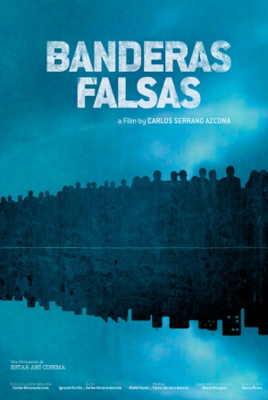Cartel de la película documental 'Banderas falsas'