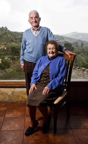 Verónico Martínez and Marcela Fernández in their village of Yetas.