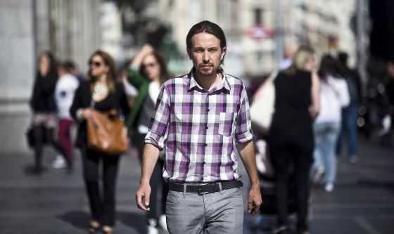 Pablo Iglesias, leader of Podemos, in Madrid on Monday.