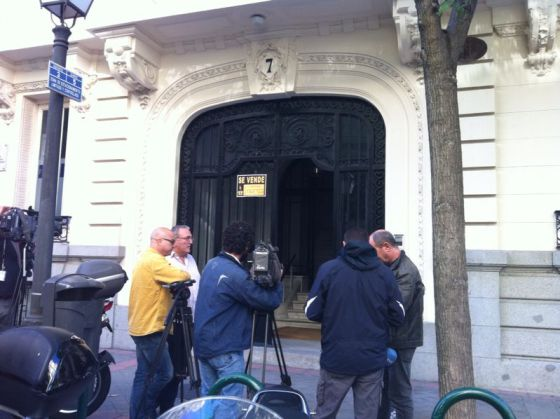 The search at the home of Oleguer Pujol's business partner Luis Iglesias.