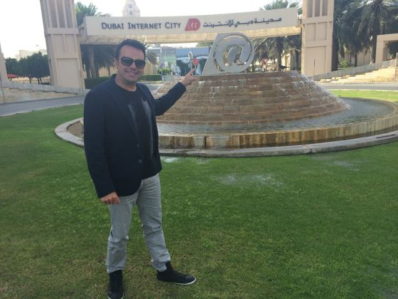 The creator of the 'unete,' José Manuel Ramírez Marco, in Dubai.