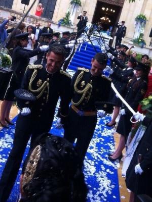Chema y Jonathan, durante la ceremonia.