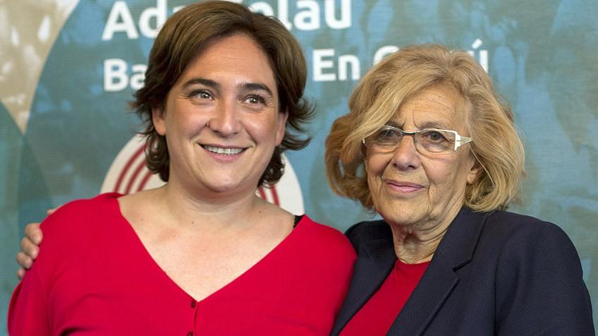 Carmena, Colau y Ribó, los políticos mejor valorados en sus ciudades