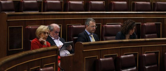 Rosa Díez, Carlos Martínez Gorriarán, Álvaro Anchuelo e Irene Lozano, parlamentarios de UPyD