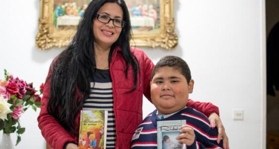 Rubén Darío Ávalos com a mãe
